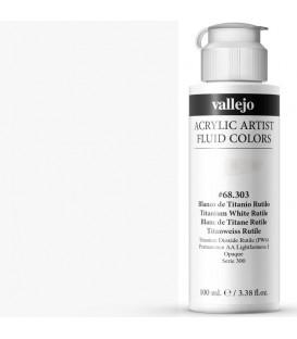 Acrilic Artist Fluid 100 ml Blanco Titanio Rutilo
