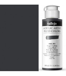 Acrilic Artist Fluid 100 ml Negro Carbón