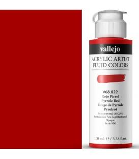 Acrilic Artist Fluid 100 ml Rojo Pirrol