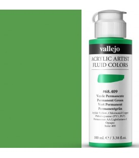 Acrilic Artist Fluid 100 ml Verde Permanente