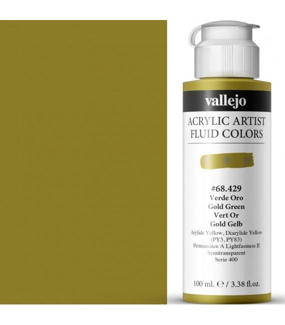 Acrilic Artist Fluid 100 ml Verde Oro
