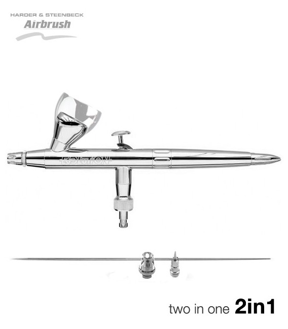 """Aerògraf Silver Line """"Two in One"""" 0,2/0,4"""