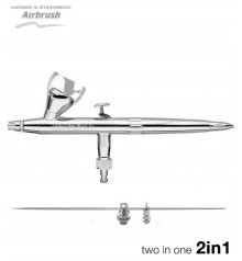 """Airbrush Silver Line """"Two in One"""" 0,2/0,4"""