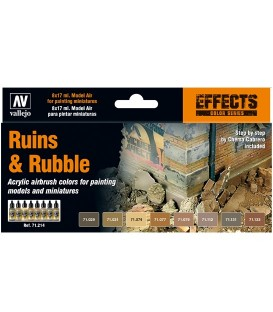 Set Vallejo Model Air 8 u. (17 ml.) Ruins & Rubble