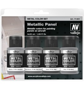 77601 Set Vallejo Metal Color 4 u. (32 ml.) Metallic Panel