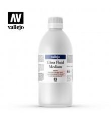 Gloss fluid medium Vallejo 500 ml.