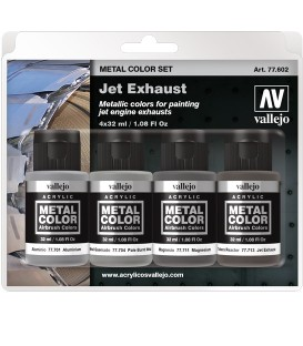 77602 Set Vallejo Metal Color 4 u. (32 ml.) Jet Exhaust