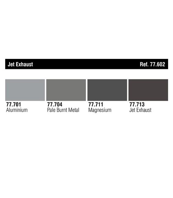 77602 Set Vallejo Metal Color 4 u. (32 ml.) Jet Exhaust