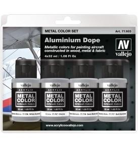 77603 Set Vallejo Metal Color 4 u. (32 ml.) Aluminium Dope