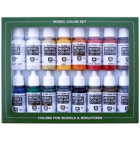 Set Vallejo Model Color 16 u. (17 ml.) Napoleonic Colors French and British