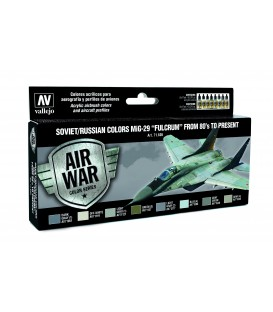 71605 Set Vallejo Model Air 8 u. (17 ml.) Soviet/Russian colors MiG-29