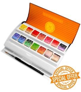 Caja acuarela Sennelier Travel Box plastico 14 pastillas