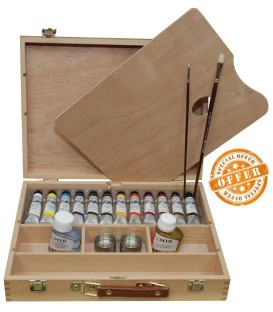Oil paint color wood set Mir Academia