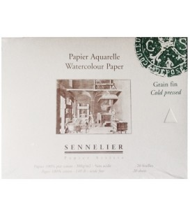 Watercolor Paper Bloc Sennelier 20s 300gr Cold Press 21x14,8