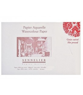 Watercolor Paper Bloc Sennelier 20s 300gr Hot Pressed 14,8x10,5