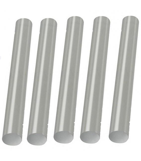 Set 5 Barras de Pegamento Transparente/Blanco 7,5 x 100 mm.