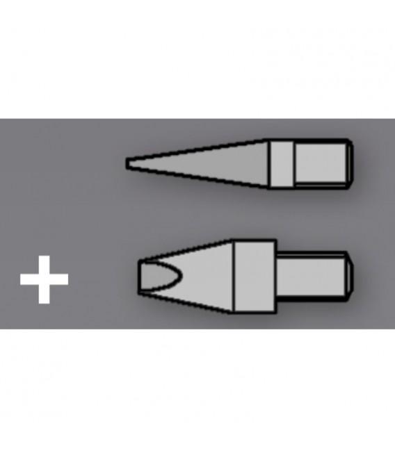 Set 2 Pointes Nickelés pour Pyrograveur ST30 / ST201