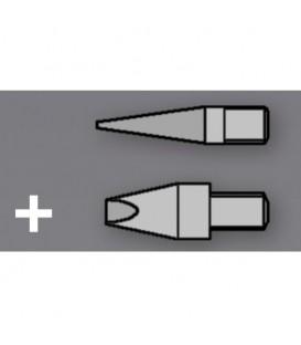Set 2 Pointes Nickelés pour Pyrograveur Star Tec ST30 / ST201