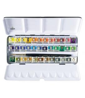 Caixa aquarel.la metall Rembrandt set de luxe 36 pastilles