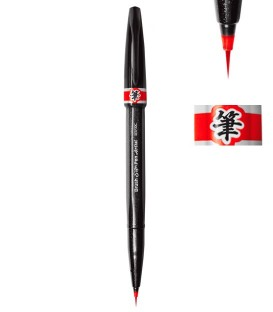 Red Pentel Sign Pen Artist Marker Pen