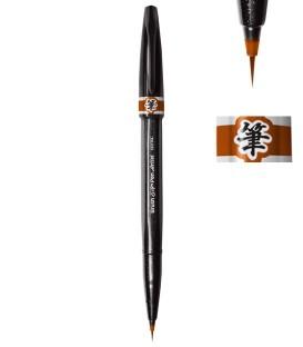 Marron Feutre Pentel Sign Pen Artist