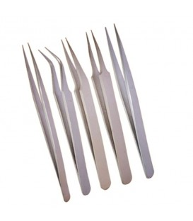5 Stainless Tweezers Set