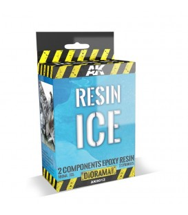 AK8012 RESIN ICE 2 components epoxy resin 150 ml.