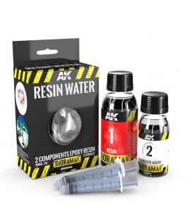 AK8044 Resin Water 2 Components Epoxy Resin 180 ml
