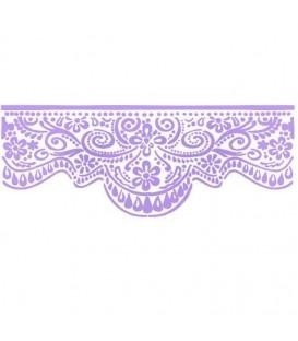 Plantilles - Stencils 38x15 Lace volute KSB167