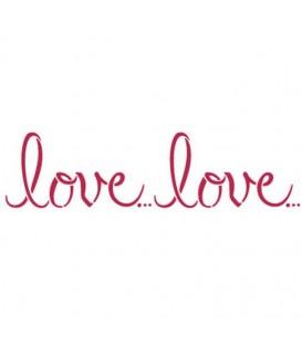 Plantillas - Stencils 38x15 Love... Love... KSB165