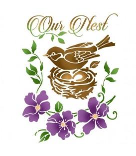 Plantilles - Stencils 15x20 Bird nest KSD299