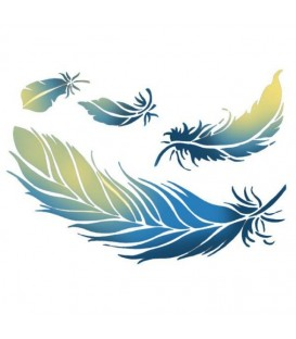 Plantillas - Stencils 15x20 Feather KSD259