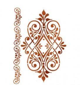 Plantillas - Stencils 21x29,7 Ornament with volute KSG361