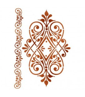 Stencils 21x29,7 Ornament with volute KSG361