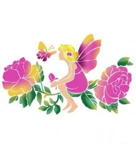 Plantillas - Stencils 21x29,7 Fairy with Butterfly KSG350