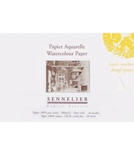 Bloc Paper Aquarel-la Sennelier 20f 300gr Gra Gruixut 21x14,8