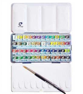 Caixa Aquarel.la Van Gogh set metal-lic 48 pastilles