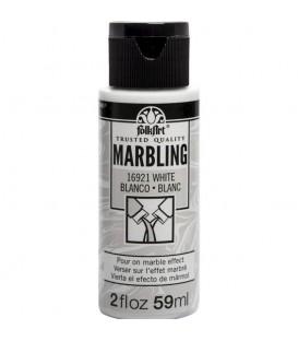 16921 Blanc Pintura acrilica FolkArt Marbling per marbrejat 59 ml.
