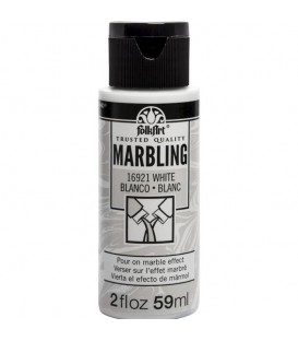 16921 White FolkArt Marbling Paint 59 ml.