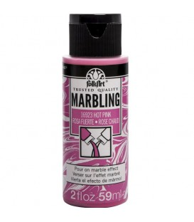 16923 Hot Pink FolkArt Marbling Paint 59 ml.