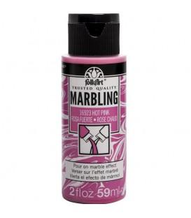 16923 Rosa Fuerte Pintura acrilica FolkArt Marbling para marmoleado 59 ml.