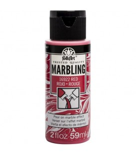 16922 Red FolkArt Marbling Paint 59 ml.