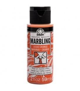 16940 Naranja Pintura acrilica FolkArt Marbling para marmoleado 59 ml.