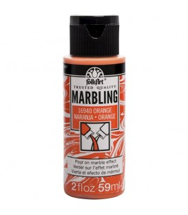 16940 Orange FolkArt Marbling Paint 59 ml.