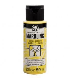 16924 Amarillo Pintura acrilica FolkArt Marbling para marmoleado 59 ml.