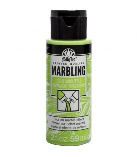 16941 Manzana Àcida Pintura acrilica FolkArt Marbling para marmoleado 59 ml.