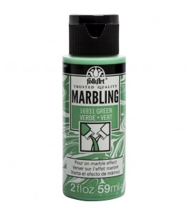 16931 Green FolkArt Marbling Paint 59 ml.