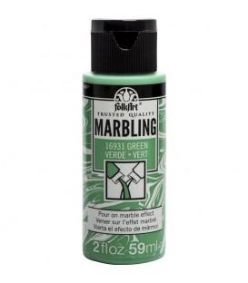 16931 Verde Pintura acrilica FolkArt Marbling para marmoleado 59 ml.