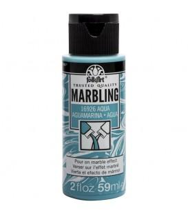 16926 Aguamarina Pintura acrilica FolkArt Marbling para marmoleado 59 ml.