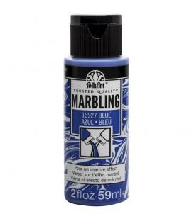 16927 Azul Pintura acrilica FolkArt Marbling para marmoleado 59 ml.